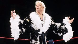 Ric Flair antes de una lucha