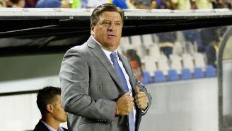 Miguel Herrera en el partido contra León