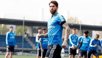Sergio Ramos, durante entrenamiento del Real Madrid