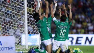Jugadores de León celebrando un gol ante el América