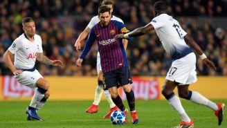 Messi enfrenta a elementos del Totenham en Camp Nou