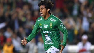 José Juan Macías festeja gol con León en el Clausura 2019