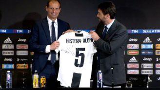 Allegri, en conferencia de prensa con la Juventus