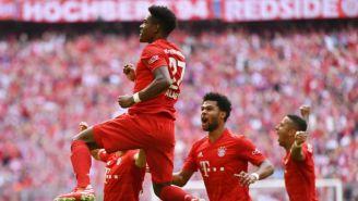 David Alaba festeja su gol frente al Eintracht Frankfurt