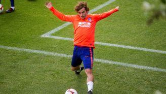 Antoine Griezmann, durante un entrenamiento con el Atlético de Madrid