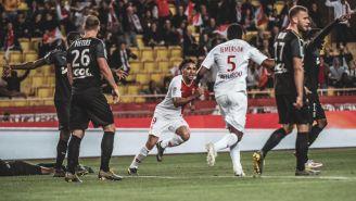 Radamel Falcao festeja gol con Mónaco