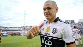 Darío Verón durante su despedida del futbol