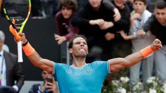 Rafael Nadal festaj pase a Final del Masters 1000 de Roma