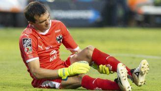 Marcelo Barovero en lamento tras sufrir una lesión