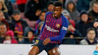 Semedo durante un partido del Barcelona