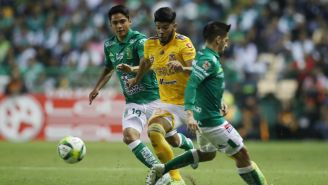 Jorge Diaz y Jair Díaz en la J1 del Clausura 2019 entre León y Tigres