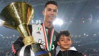CR7 junto a su hijo, Cristiano Jr.