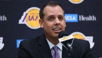 Frank Vogel, durante su presentación con los Lakers