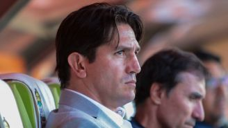 Bruno Marioni durante un juego de Pumas
