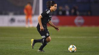 Diego Lainez, durante un juego con la Selección Mexicana