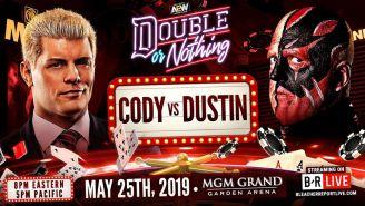 Promocional de Cody y Dustin Rhodes para Double or Nothing