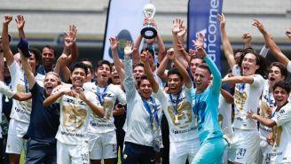Festejo de Pumas tras ganar la Final de la Sub 17