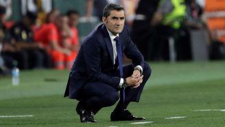 Ernesto Valverde observa el duelo ante Valencia