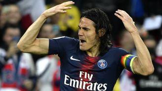 Edinson Cavani durante un encuentro ante el Dijon FCO