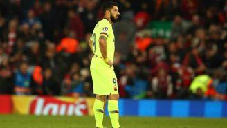 Luis Suárez en un partido con el Barcelona