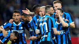 Inter de Milan celebra una anotación frente al Empoli