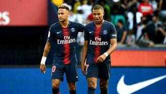 Neymar y Mbappé durante un partido con el PSG