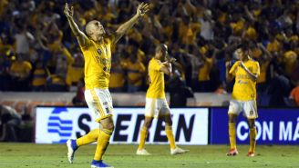 Tigres celebra una anotación frente a León