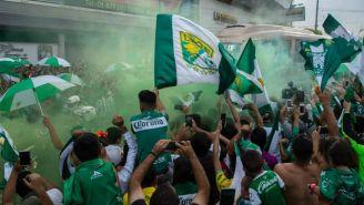 La ciudad de León se volvió caótica para recibir al equipo local