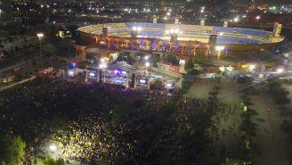 Aficionados de Tigres acuden al Volcán para celebrar