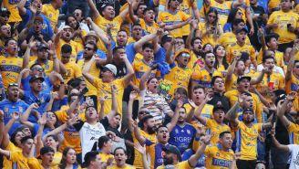 Afición de Tigres durante el partido