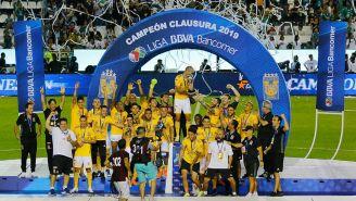 Tigres en festejo por el título del Clausura 2019