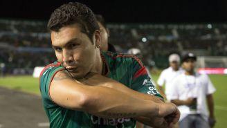 Salvador Cabañas durante un partido contra León