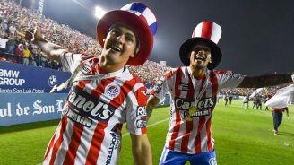 Jugadores del Atlético San Luis festejan el ascenso a la Liga MX