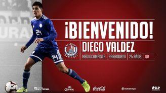 Diego Valdez es anunciado como refuerzo de San Luis