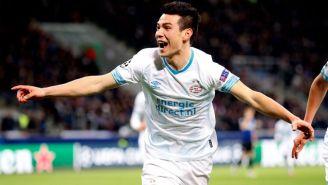 Lozano festeja anotación con el PSV