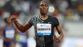 Caster Semenya, durante una competencia