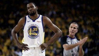 Kevin Durant, se lamenta en juego de los Warriors