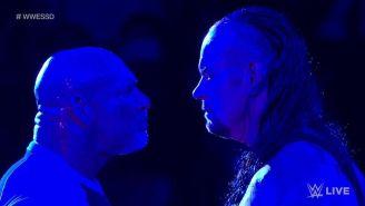 Momento en que Goldberg y Undertaker se encuentran en el ring