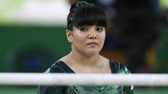 Alexa Moreno, durante una competencia