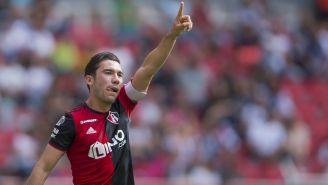 Vigón festeja un gol en juego del Atlas