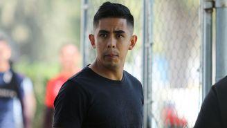 Néstor Calderón en entrenamiento de Chivas