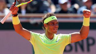 Nadal celebra pase a la Final de Roland Garros