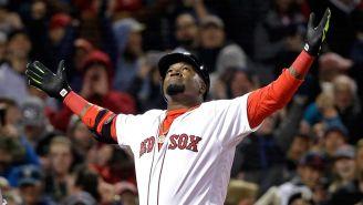 David Ortiz en un juego de los Red Sox