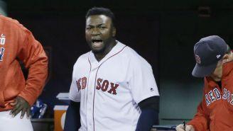 David Ortiz en un juego con los Red Sox