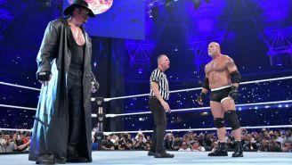 Undertaker y Goldberg antes del combate