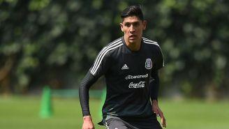 Edson Álvarez en un entrenamiento del Tri