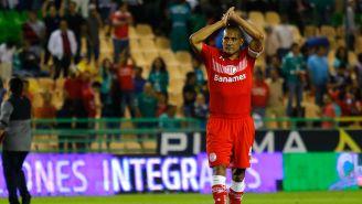 Paulo da Silva, durante un partido en su último torneo con Toluca