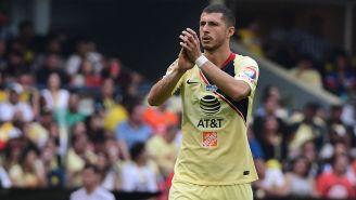 Guido Rodríguez en partido con el América