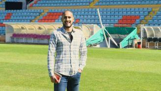 David Izazola en el estadio de Salamanca CF