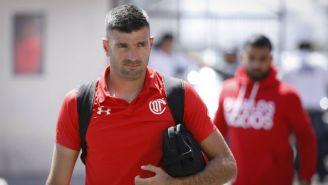Emmanuel Gigliotti previo a un juego con Toluca